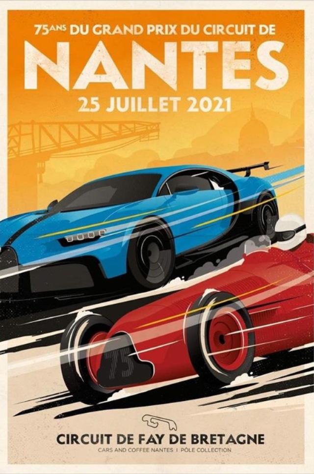 Affiche du rassemblement pour les 75 ans du circuit de Nantes, le 25 juillet 2021