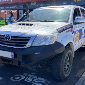 Véhicule 4x4 Toyota pour l'édition 2022 du rallye des gazelles